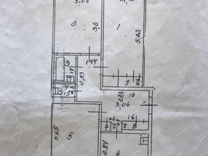 трёхкомнатная квартира на улице Космонавтов дом 7 город Балахна
