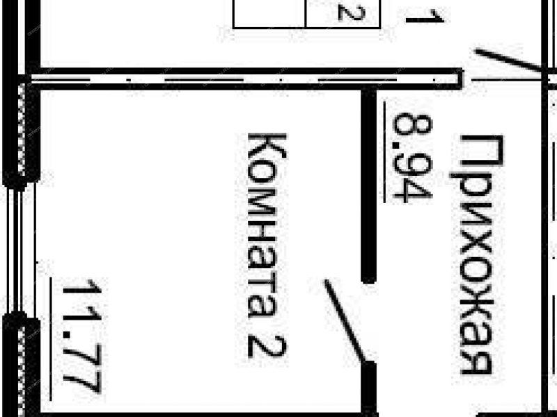 двухкомнатная квартира в новостройке на улице Малоэтажная