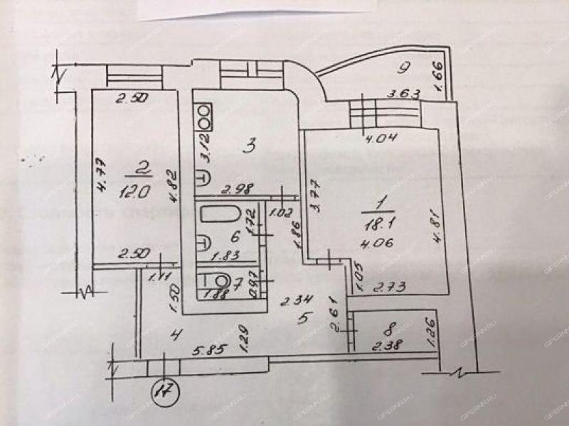 двухкомнатная квартира на улице Герцена дом 11 город Саров