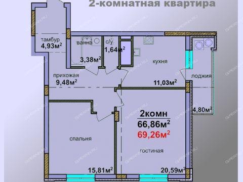 2-komnatnaya-v-granicah-ulic-lobachevskogo-kommuny-ciolkovskogo-dom-n6 фото